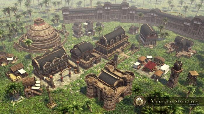 0 A.D. Alpha 13 - budynki cywilizacji Mauryan