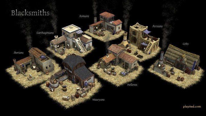 0 A.D. Alpha 14 - budynki kowali