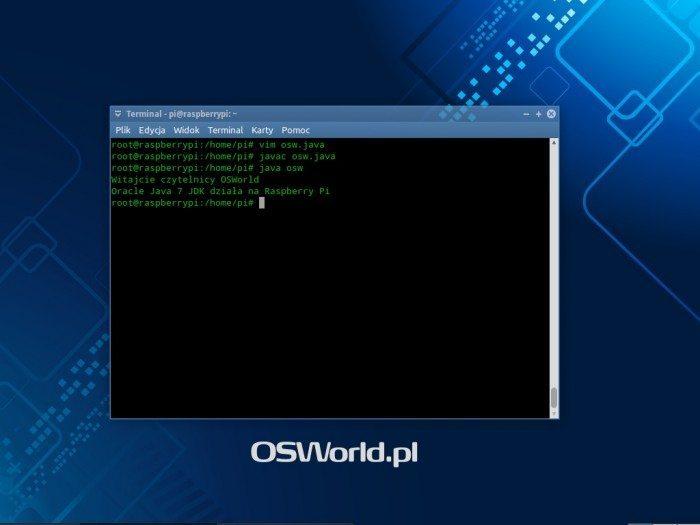 Oracle Java 7 JDK działające na Raspberry Pi Model B
