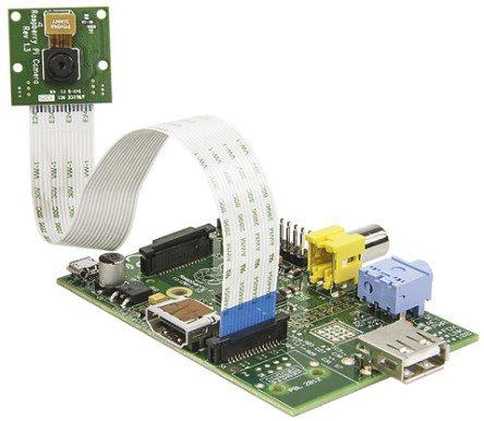 Raspberry Pi Model A i kamera
