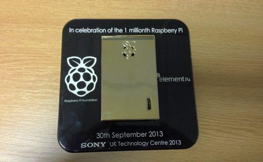 Złota obudowa do Raspberry Pi