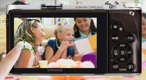 Samsung NX300M - ekran AMOLED