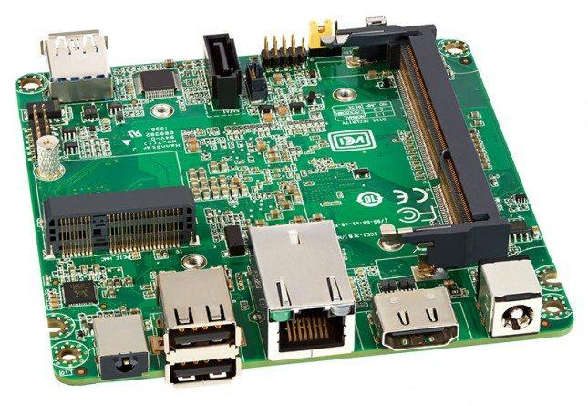Intel NUC Kit DN2820FYKH - płyta główna - tył