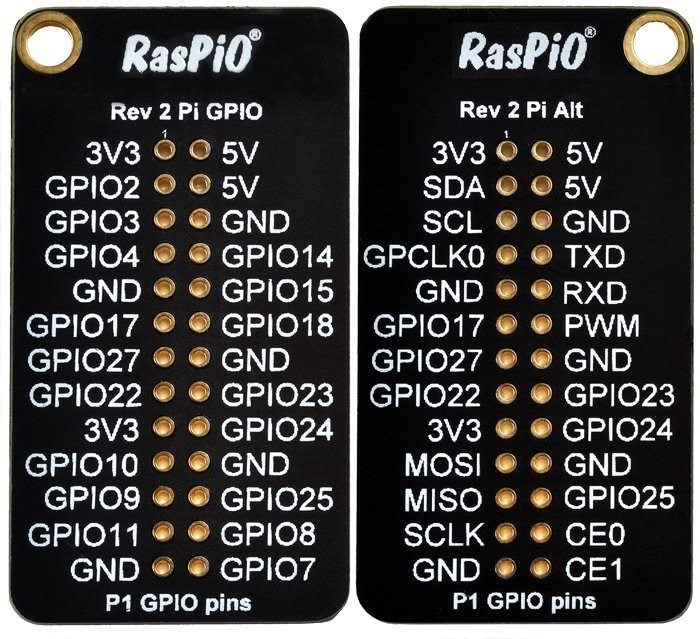 RasPiO Port Label - wygląd