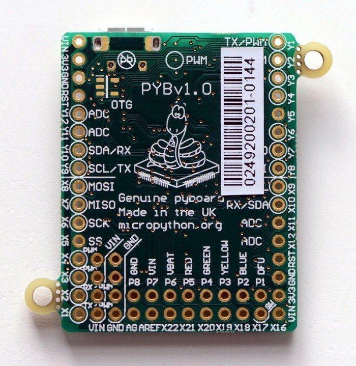 Micro Python v1.0 - spód