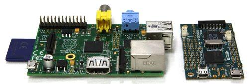 Raspberry Pi Model B vs ODROID-W - porównanie wielkości