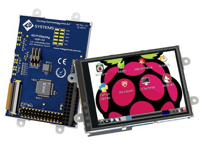 4D Systems 4DPi-32 - przód i tył