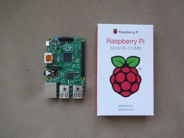 Raspberry Pi Model B+ - góra