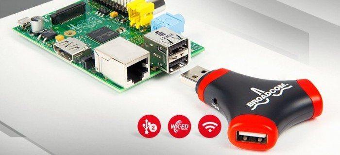 Adapter WiFi i 2 portowy Hub USB - podłączenie do Raspberry Pi