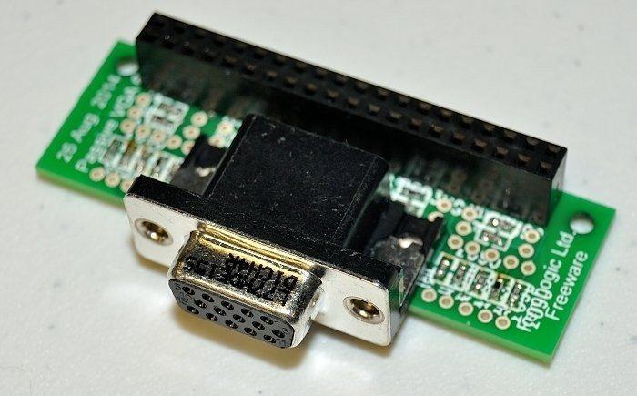 Adapter vga666 dla Raspberry Pi Model B+ - wygląd
