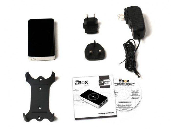 ZOTAC ZBOX PI320 pico - wyposażenie