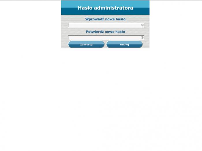 Zalman ZM-WE450 - oprogramowanie - hasło administratora