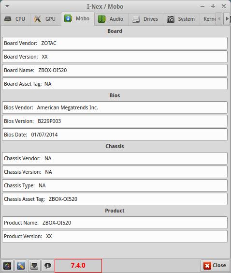 ZBOX Sphere OI520 Plus - płyta główna