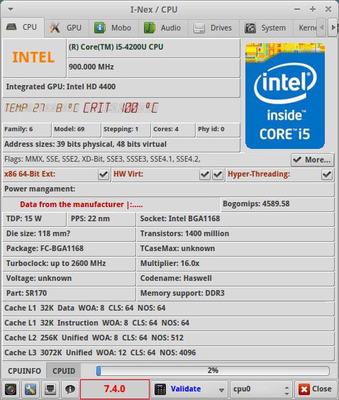 ZBOX Sphere OI520 Plus - procesor