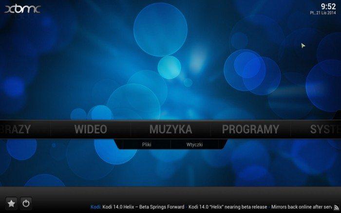 LeMedia - ekran główny