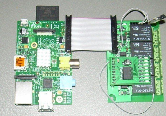 Raspberry Pi i Moduł wykonywaczy z 4 przekaźnikami - podłączenie