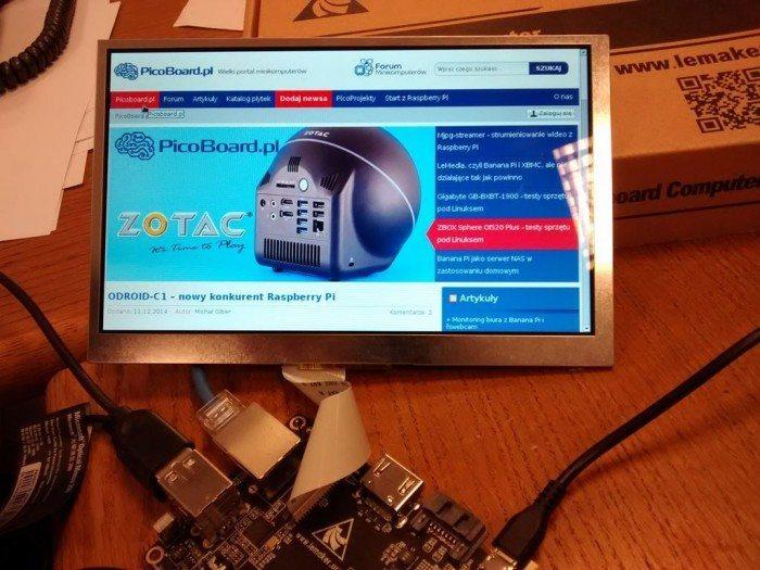 Ekran LCD dla Banana Pro