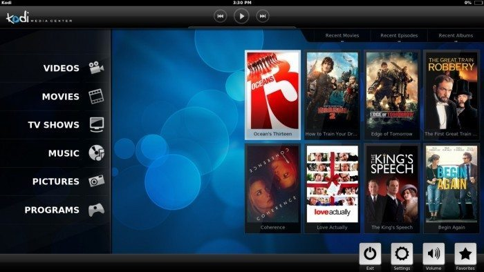 Kodi 14.0 - Android na tablecie