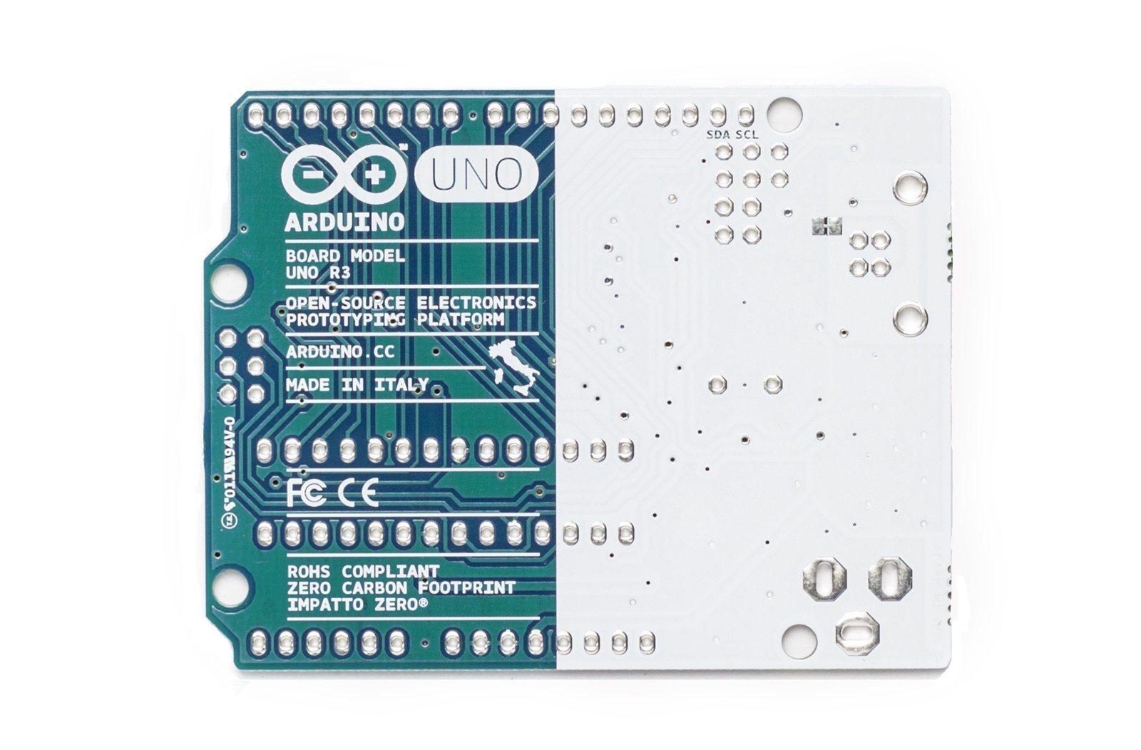 Arduino Uno - nowy wygląd tył