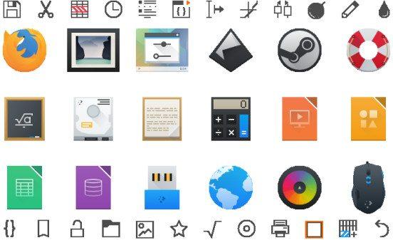 KDE Plasma 5.2 - nowe ikony