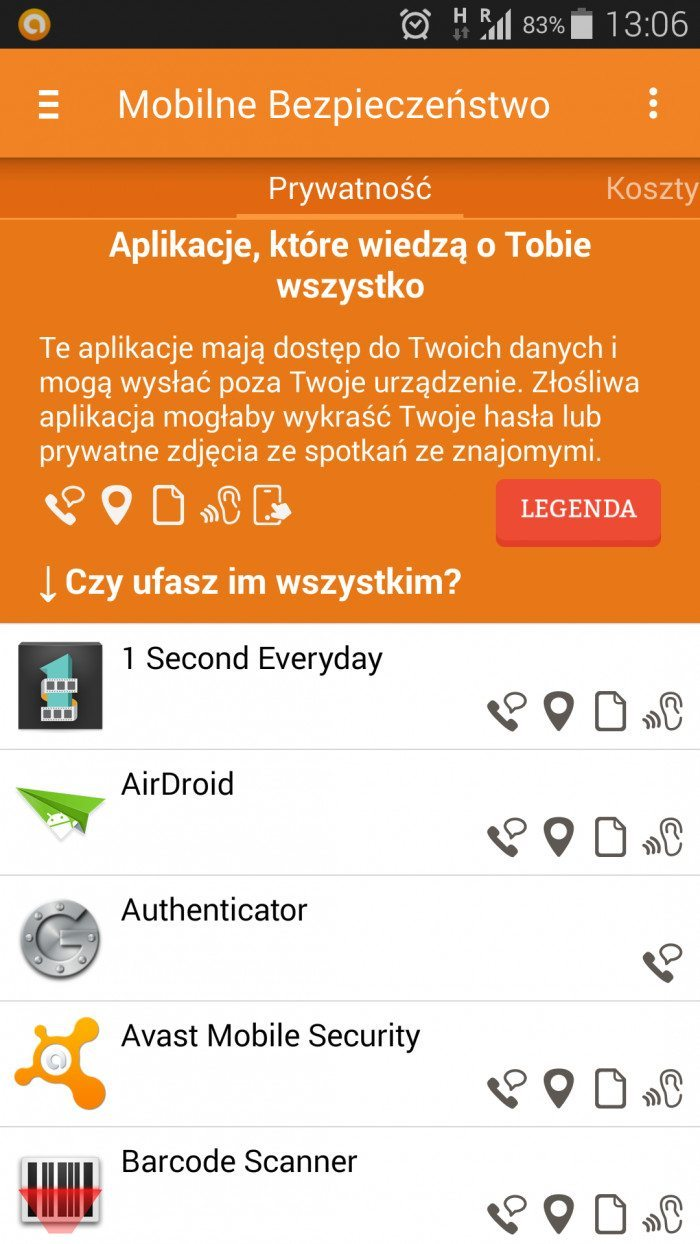 Mobilne Bezpieczeństwo - aplikacje