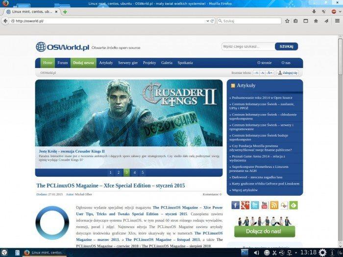 Netrunner 14.1 - przeglądarka Firefox