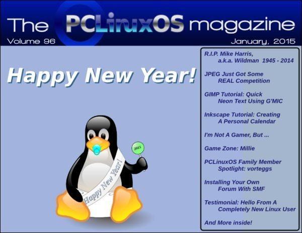 The PCLinuxOS Magazine – styczeń 2015 - okładka