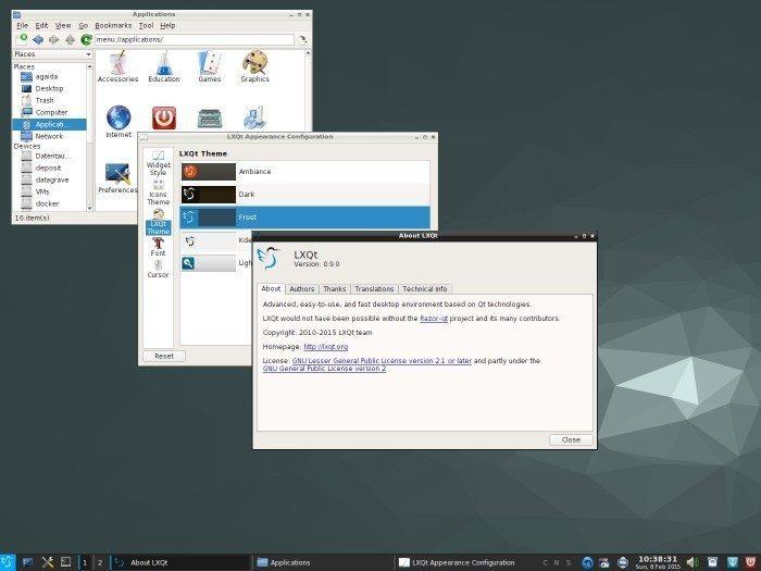 LXQt 0.9 - nowy styl Frost