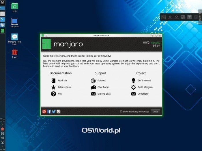 Manjaro 0.8.12 - pulpit