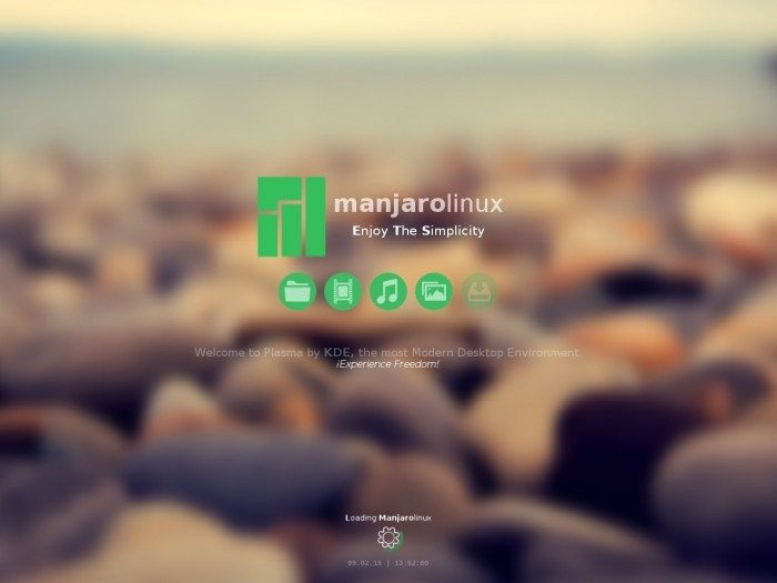 Manjaro 0.8.12 - uruchamianie