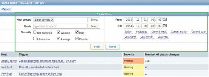 Zabbix 3.0.0 Beta - filtrowanie