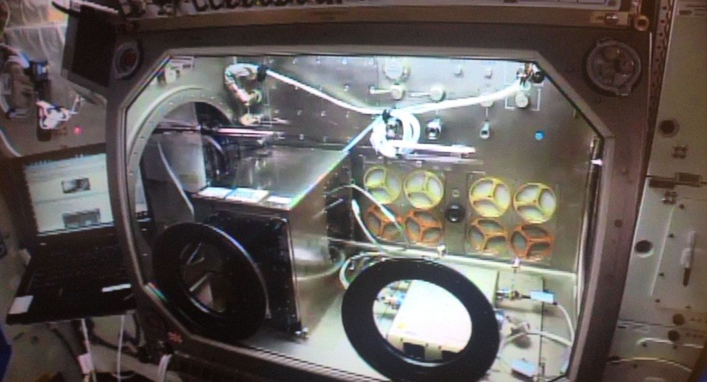 Zero-G Printer w Microgravity Science Glovebox