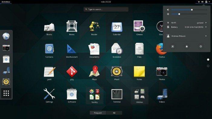 GNOME 3.16 - wygląd