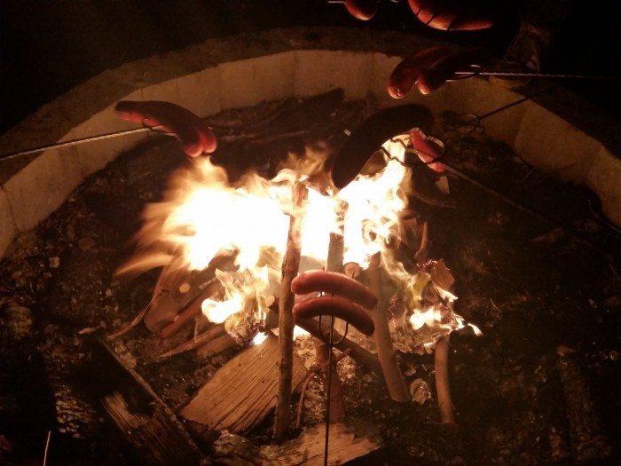 Zimowisko Linuksowe 2015 - ognisko