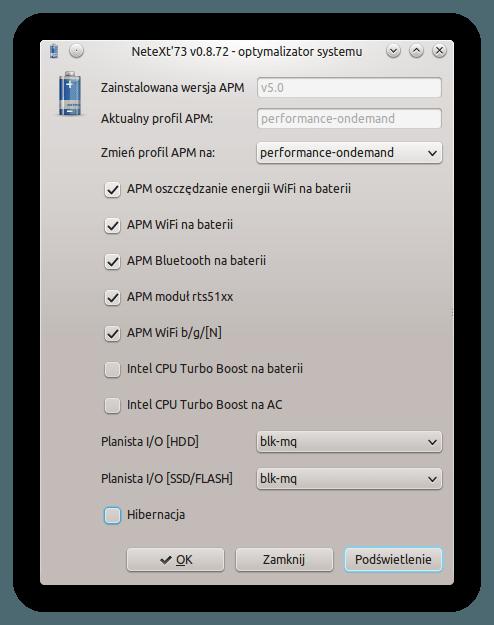 APM 5.0 - hibernacja