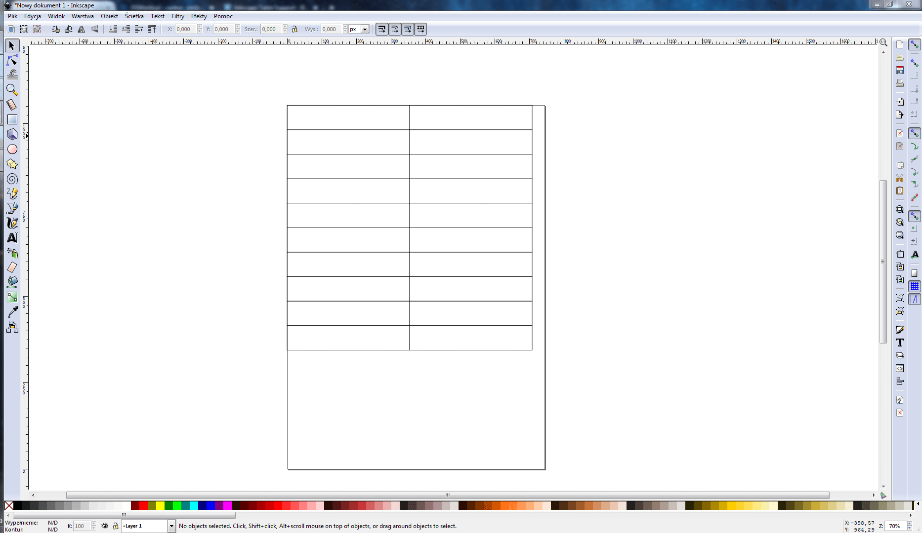 Inkscape Table Support - tabela