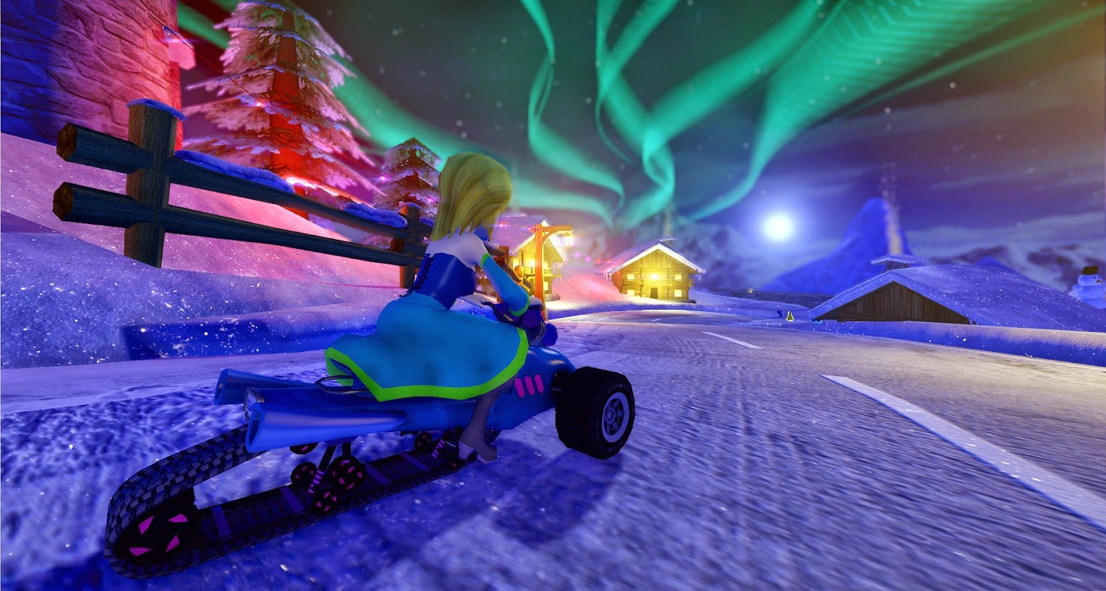 SuperTuxKart 0.9 - Snow Resort