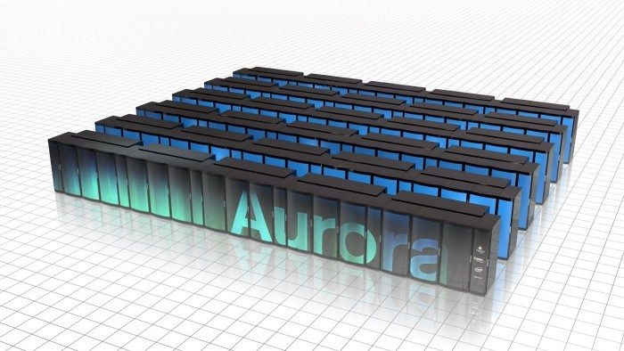 Superkomputer Aurora - wizualizacja