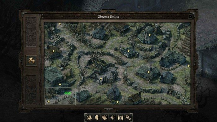 Pillars of Eternity - Mapa Złoconej Doliny