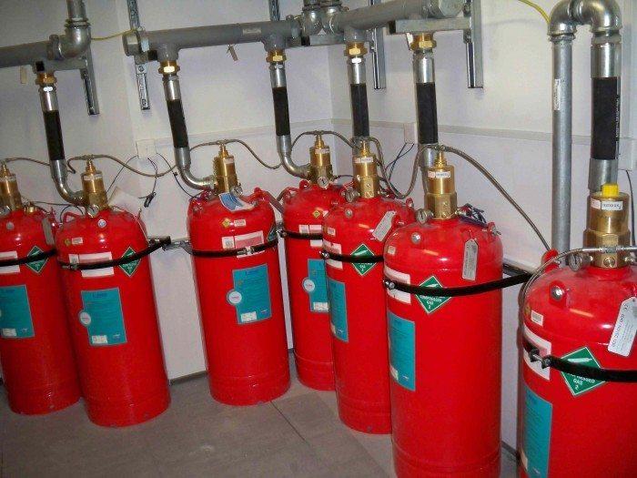 System gaszenia gazem FM200
