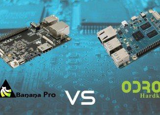 Banana Pro i ODROID-C1 - slider