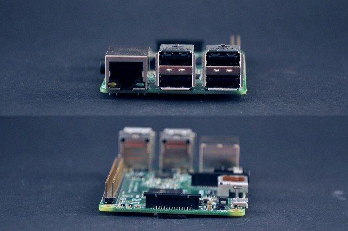 Raspberry Pi 2 Model B - przód i tył