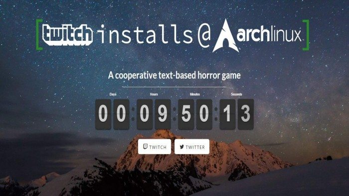 Twitch Installs Arch Linux