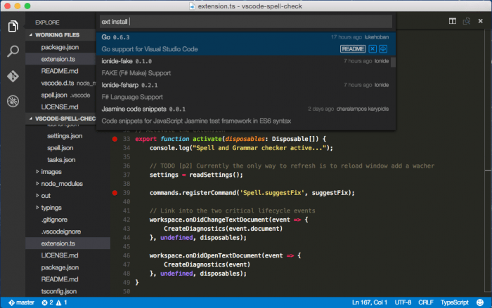 Visual Studio Code 0.10.1