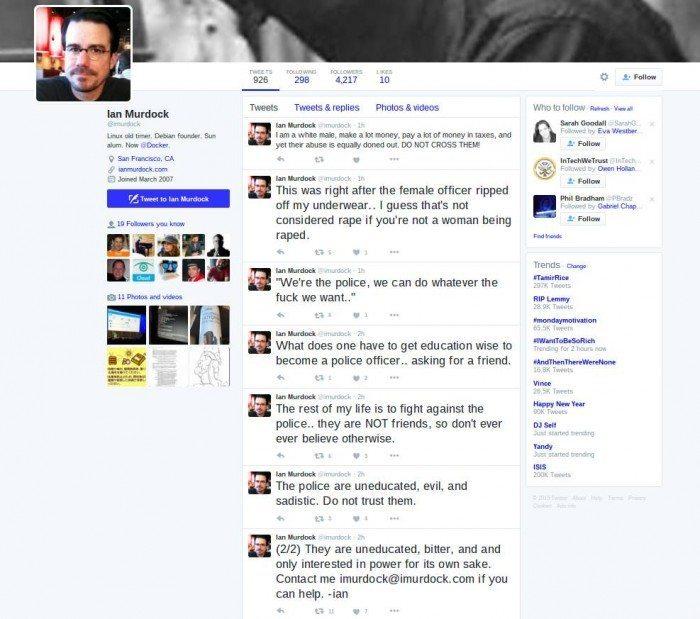 Ian Murdock - twitter