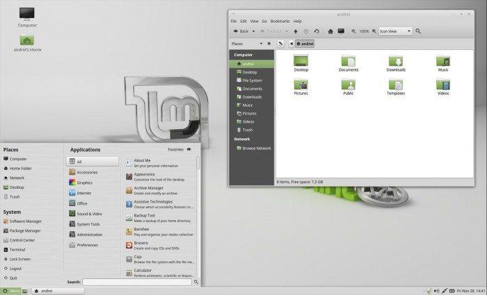 Migracja na Linuksa - Pulpit Linux Mint
