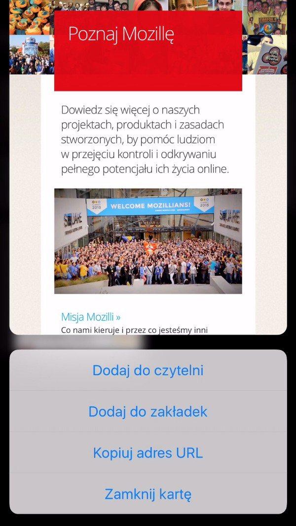 Firefox 2.0 dla iOS