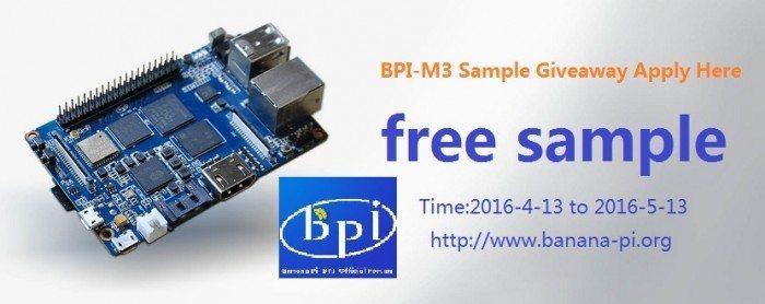 3rd Banana Pi BPI-M3 Giveaway