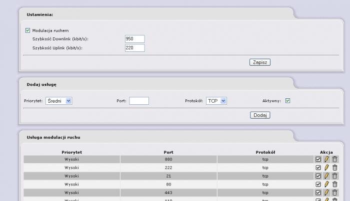 IPCop - Modulacja ruchem