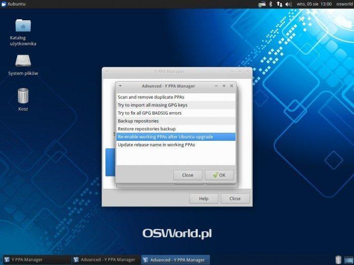 Aktualizacja Xubuntu 12.04 LTS do Xubuntu 14.04 LTS - włączanie repozytoriów